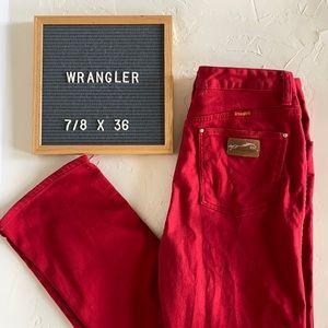 Vintage Red Wrangler High Waisted Jeans